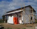 Каркасный дом, фасад утеплен плитами ПСБС-50