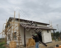 Каркасный дом, монтаж погонажных изделий